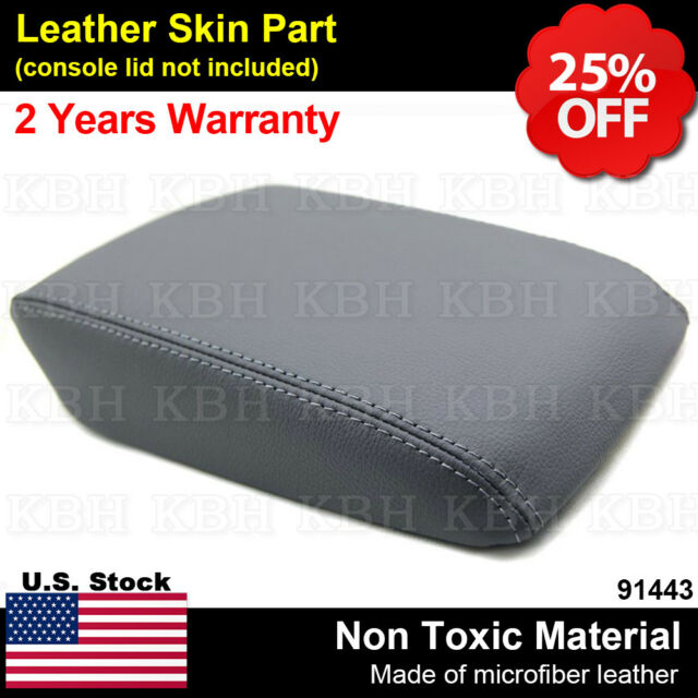 Leather Armrest Center Console Lid Cover Skin Fits Acura