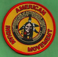 AIM AMERICAN INDIAN MOVEMENT CONFEDERATION OF AUTONOMOUS CHAPTERS PATCH