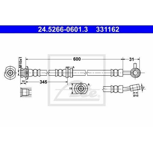 ATE 24.5266-0601.3 Bremsschlauch