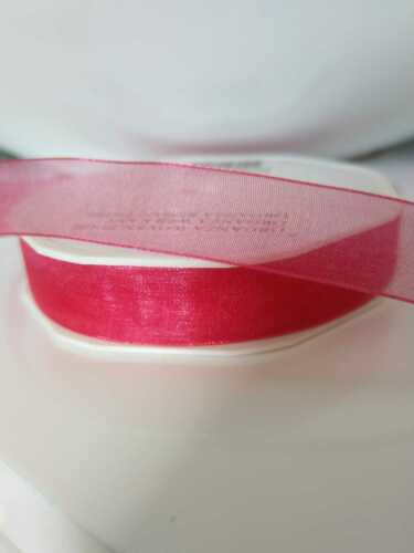 various colours//widths Woven Edge Organza Sheer Chiffon Ribbon
