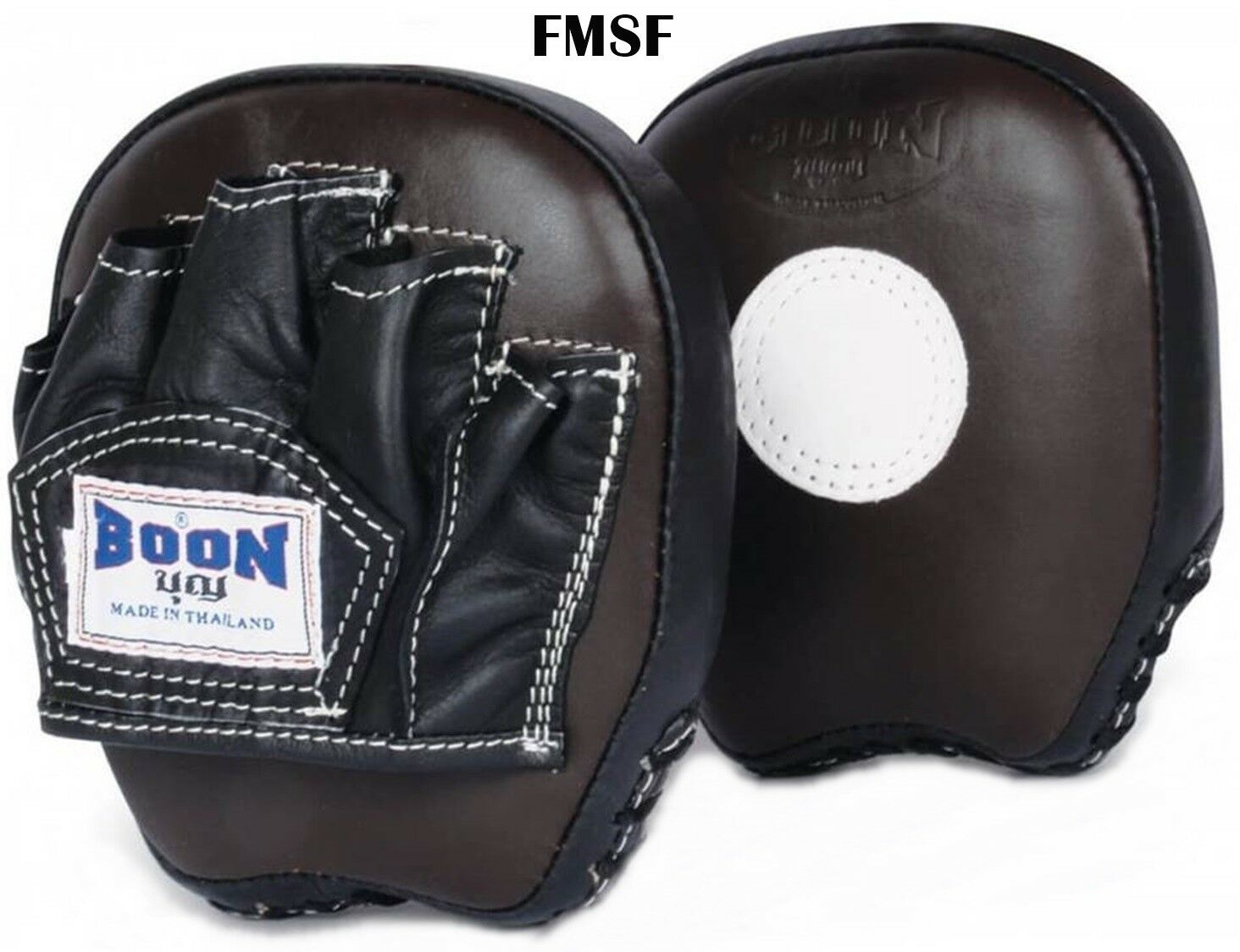 BOON FOCUS MITTS SMALL FLAT FMSF GENUINE LEATHER TRAINING   MUAY THAI K1 MMA  sale outlet