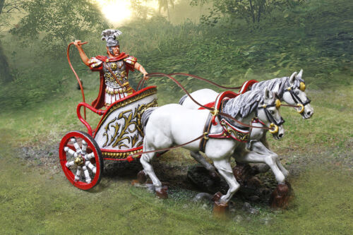 THE COLLECTORS SHOWCASE ROME 43AD CS00920 ROMAN CHARIOT WITH CHARIOTEER MIB