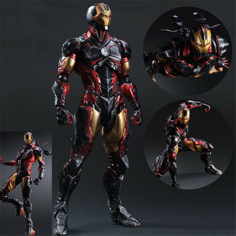 10  Avengers Iron Man Action Figure Play Arts Kai Collection Toy Gift In Box