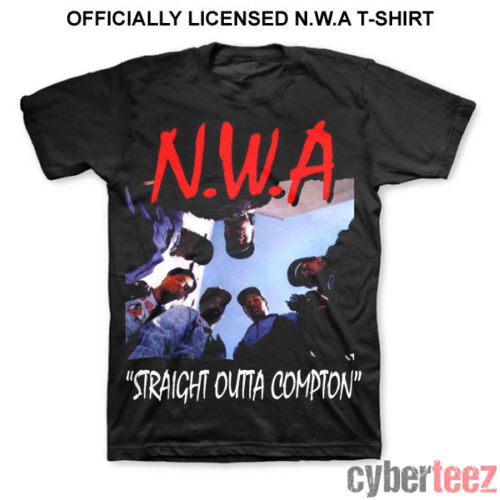 NWA (N.W.A.) Straight Outta Compton T-Shirt New Authentic S-4XL