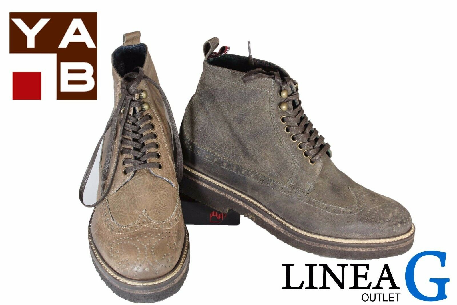 YAB oxford suede boots F/W 2017 scarponcino in camoscio A/I 2017
