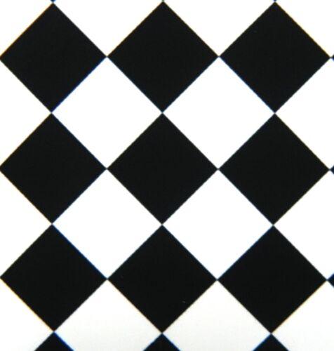 Nero e Bianco Pavimento Bambole Casa 1//12th Scala Auto Adesivo Vinile Foglio
