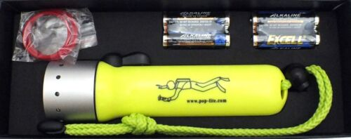 Top Quality High Power Diving Flashlight with US Cree Q5 up to 60m POP-lite F2