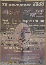 Auw Mök! Festival 25-11-2000 Sittard Poster KREZIP-GATHERING-RACOON-OSDORP POSSE