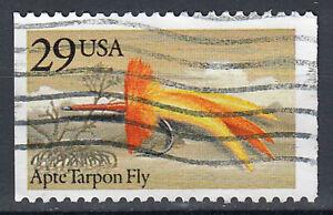 USA-Briefmarke-gestempelt-29c-Apte-Tarpon-Fly-aus-Markenheft-180