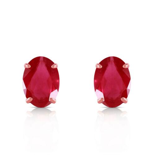 1.8 Carat 14K Solid Rose Gold Stud Earrings Natural Ruby