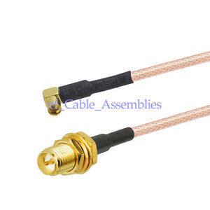 1ft RF N Female Nut O-ring to Rp-tnc Male Straight Extension coax Cable Rg174 3