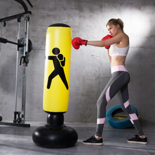 Boxing Punching Bag Inflatable Tumbler Kids Adult Home Fitness Sandbags