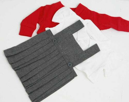 WINTER UNIFORM FOR BABY BORN PINAFORE//BLOUSE//CARDY //BOOKBAG //SHOES ALL COLOURS