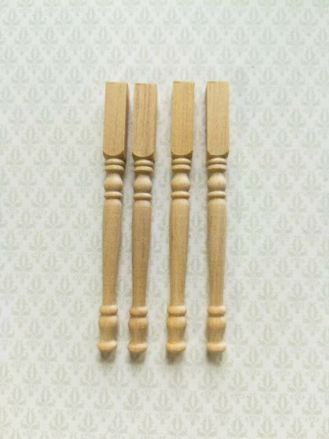 4pcs//lot 1:12 Dollhouse Miniature DIY Wooden Chair Table Leg  AccessoriesH xo