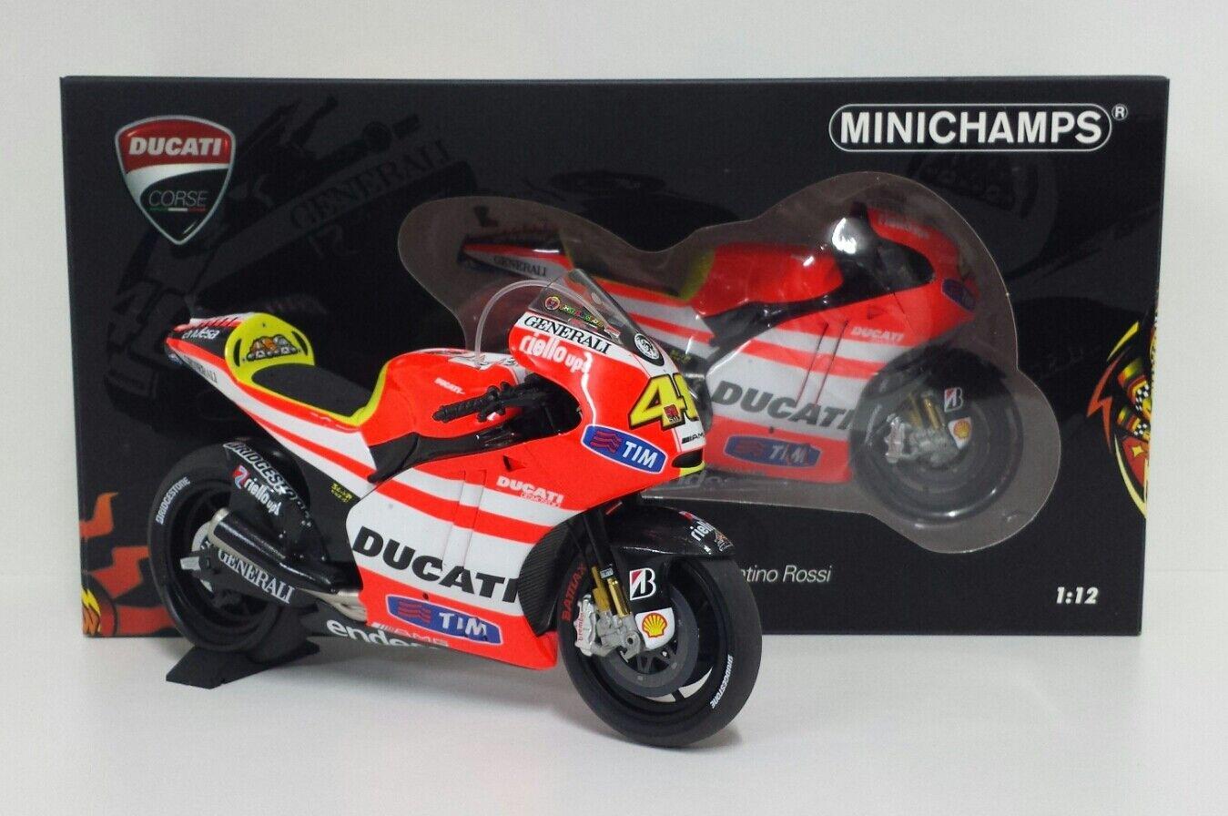 Minichamps Valentino Rossi 1 12  Model DUCATI DESMOSEDICI gp11.2 MotoGP 2011  vente discount