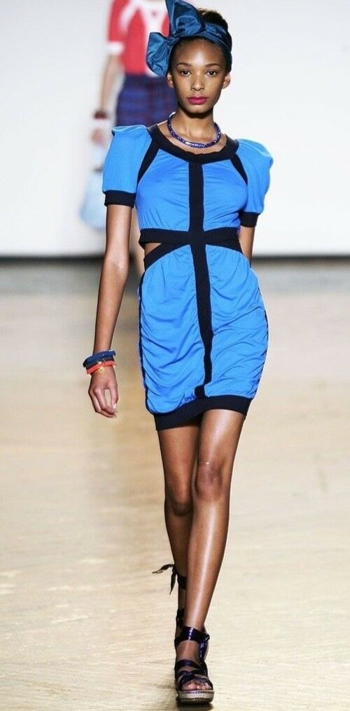 Marc by Marc Jacobs Stunning Runway Cut Out Vivid bluee BRAND NEW Dress