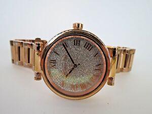 Michael-Kors-Women-039-s-Skylar-Watch-MK-5828-Crystal-Rose-Gold-Wristwatch