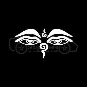 BUDDHA-EYES-Sticker-Wisdom-Eye-Vinyl-Decal-Buddhist-Shrine-Stupa-Nepal-Symbol
