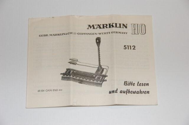 Märklin H0 Original Description For Decoupling Rails 5112 M Track Top A