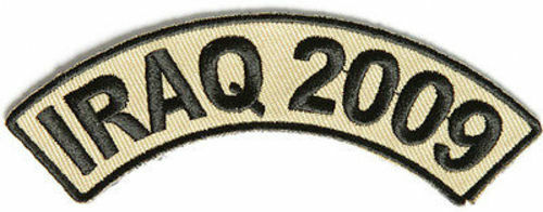 """IRAQ 2009 4/"""" x 1.5/"""" Rocker Vet Military Troops POW MIA Biker Vest Patch PAT-2710"""