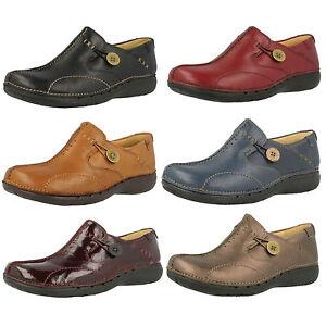 Mujer-CLARKS-UN-LOOP-Zapatos-de-piel-SIN-CIERRES-D-Ajuste