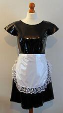 Blanco de encaje con volantes de Pvc Musgo Delantal Fancy Dress Sissy