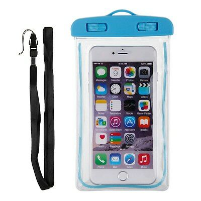 Luminous Waterproof Glow Underwater Pouch Bag Pack Dry Case Cover For Cell Phone