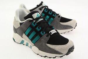 Details about Adidas Women EQT Support 93 black core black eqt green off white S78910
