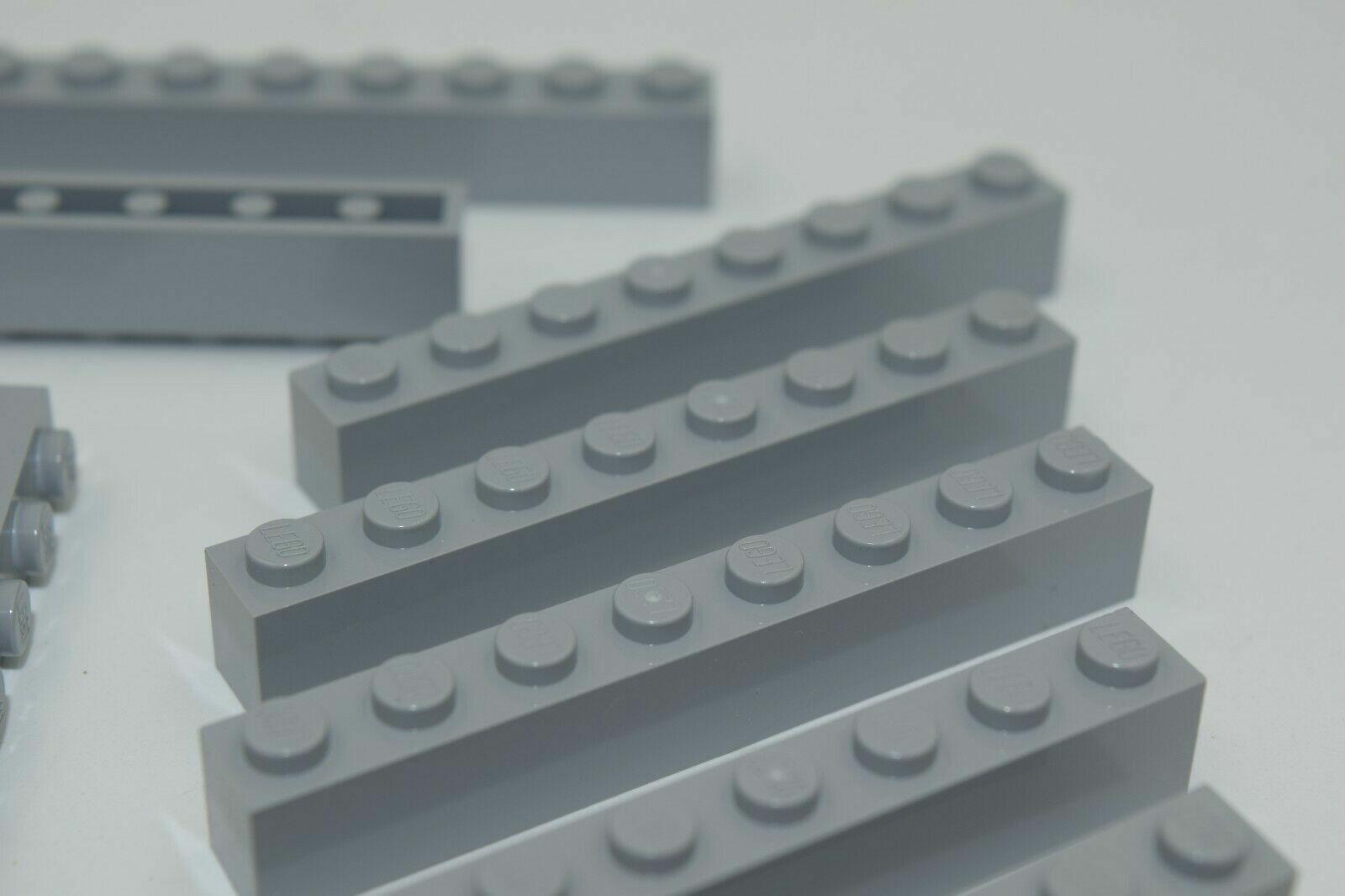 20x LEGO Stein 1x8 grau NEU hellgrau 3008 Baustein 8x1 light bluish gray