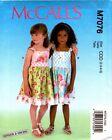 McCalls Pattern 7076 M7076 Girls Dresses Ginger & Louise 2-3-4-5 6-7-8 NEW