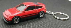 Hot-Wheels-88-Honda-CR-X-Llavero-Automovil-De-Fundicion