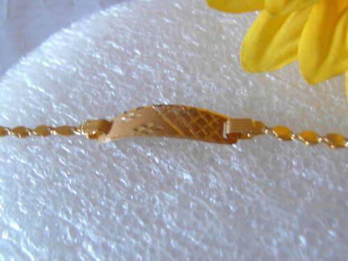 KINDER BABY ARMBAND GOLDARMBAND  750 GOLD 13 cm   NEU  ein besonderes Geschenk