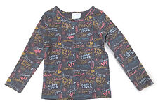 Matilda Jane size 2 Scribble tee doodles writing grey gray EUC Paint by Numbers