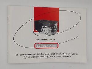 SystéMatique Original Notice D'instructions Dielselmotor 43 F Farymann Diesel Manuel-ung Dielselmotor 43 F Farymann Diesel Handbuch Fr-fr Afficher Le Titre D'origine