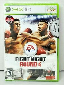 XBOX 360 Live FIGHT NIGHT ROUND 4 Video Game EA Sports BRAND NEW FACTORY SEALED