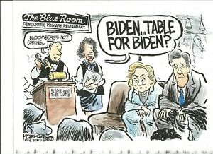 Joe Biden Hillary Clinton John Kerry 2019 Koterba Political Cartoon Color B W Ebay