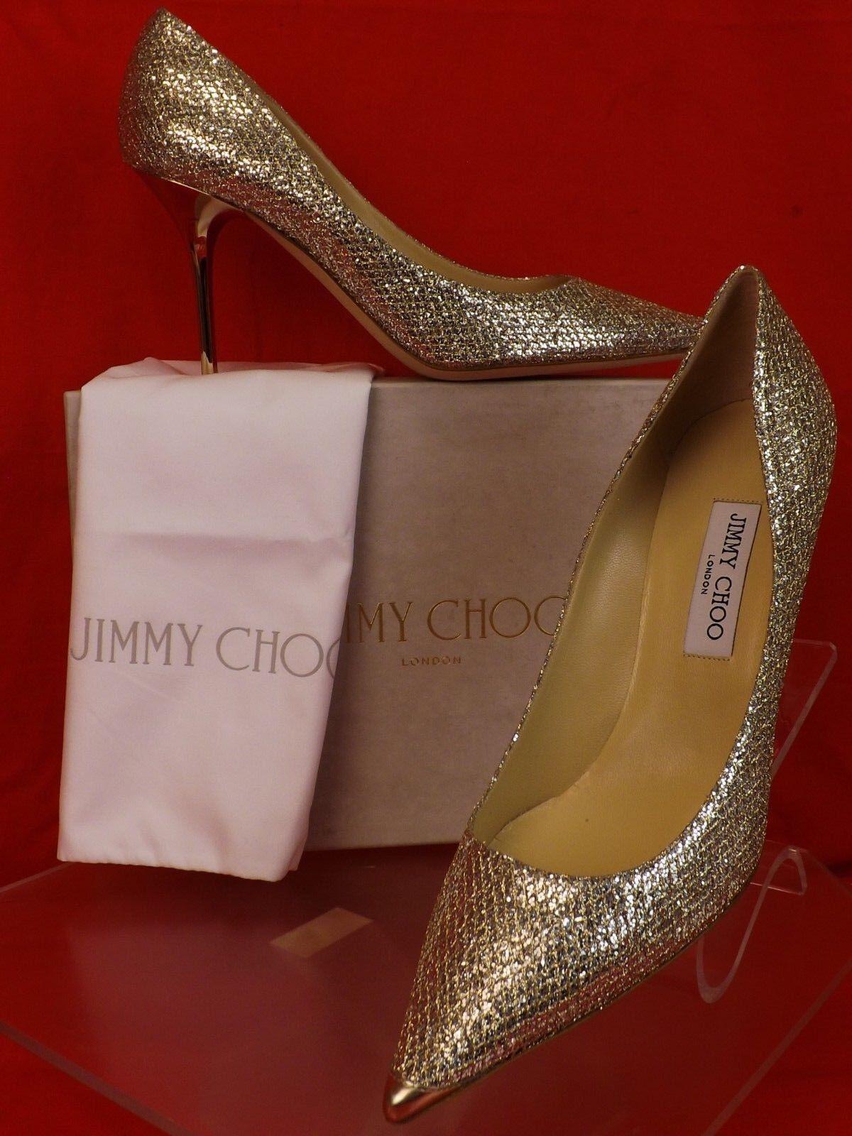 fb21da70762d Jimmy Choo Agnes Champagne Glitter Fabric Pointy Toe Mirror Heel ...