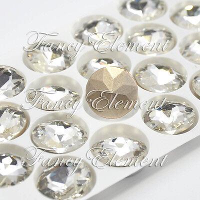 18pcs Sew On Rhinestones 1200 18mm Round Clear Crystal Fancy Stone Silver Plate