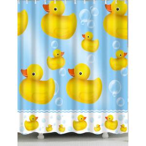 Image Is Loading 1 Pc Waterproof Little Yellow Duck Shower Curtain