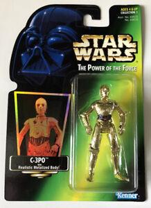 NEW-Star-Wars-POTF-C-3PO-with-Realistic-Metalized-Body-Kenner-1997