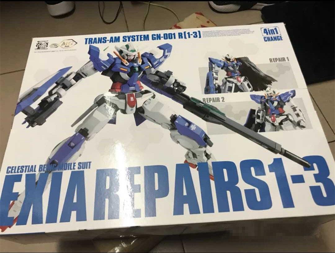 Dragon Momoko MG MB 1//100 GN-001 Exia 4 in 1 Gundam R1//R2//R3 4 form model