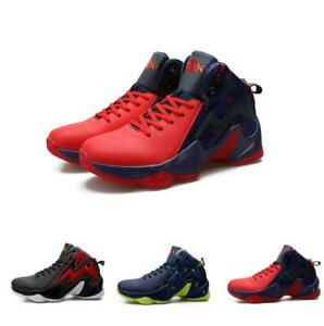 Mens Basketball Sneakers High Top Ankle Boot Sport Casual Shoes Breathable Yh