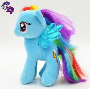 Wholesale-My-little-pony-RAINBOW-Dash-Soft-Plush-Stuffed-Doll-7-034-Kids-Xmas-Gift