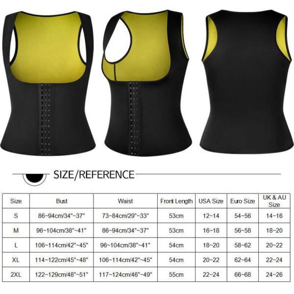 Damen Fitness Body Shaper Neopren Abnehmen Weste Bauchweg Mieder Taillenformer