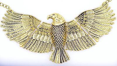 Vintage Art Deco style large soaring eagle bird necklace