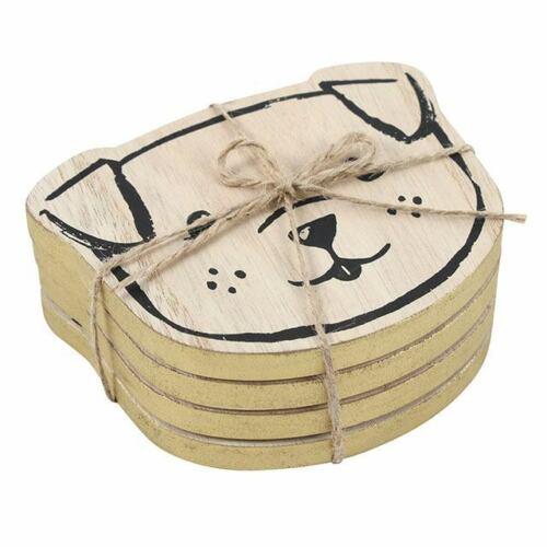 Lot de 4 Chiens Coasters-Cadeau Idéal Idée-Idéal pour les amoureux des chiens