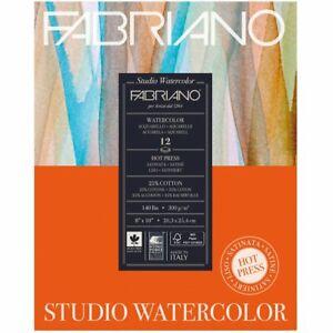 Fabriano-Studio-Watercolor-Paper-140-lb-Hot-Press-12-Sheet-Pad-11x14-034