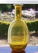 signierte Vase marc aurel Glas gelb Flasche Uranglas schlanker Hals