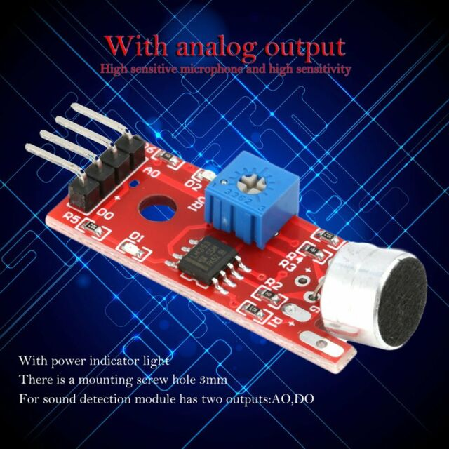 Microphone Sensor High Sensitivity Sound Detection Module For Arduino HHK