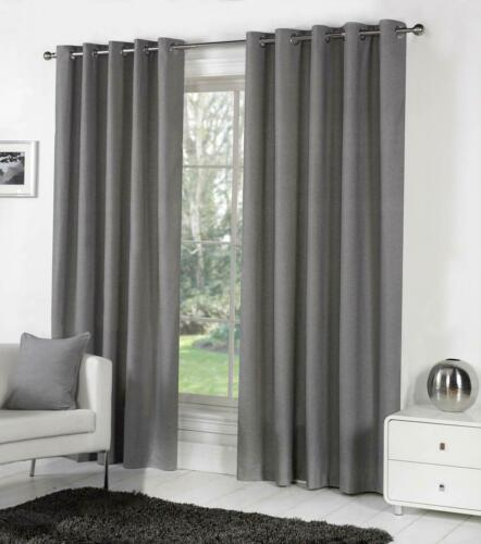 Sorbonne Ready Made Eyelet Curtains Charcoal